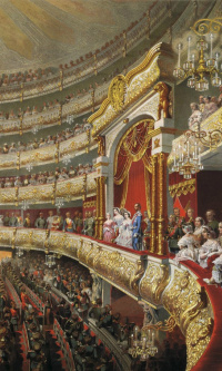 Performance in the Moscow Bolshoi Theater on the occasion of the coronation of Alexander II