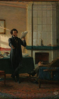 A. S. Pushkin in the village of St.