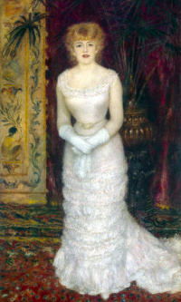 Portrait of the actress Jeanne Samari