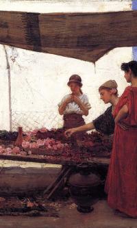 Лепестки роз. Греческий рынок цветов