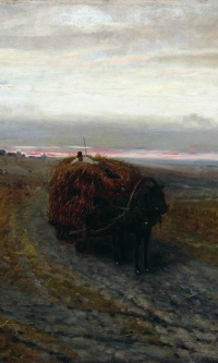During haymaking