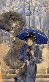 Женщины под дождем