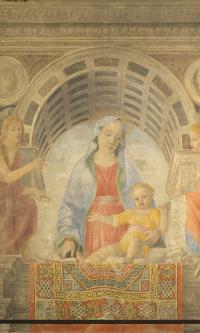 Мадонна с Младенцем, Святым Иоанном Крестителем и Иоанном Богословом (Мадонна с ковром)