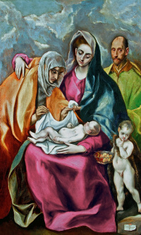 Holy family with Saint Anne and the young St John the Baptist