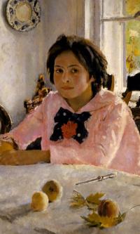 Девочка с персиками (Портрет В. С. Мамонтовой)