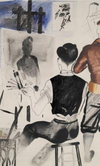 Artists in the Studio (A. D. Goncharov and J. I. Pimenov)