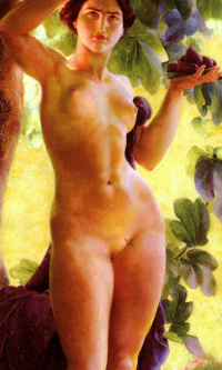 Bather and figs