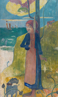Joan of Arc, or Breton with a spinning wheel