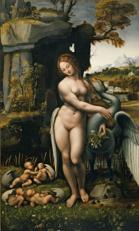 Leda and the Swan (copy of a lost work of Leonardo attributed to Francesco Melzi)