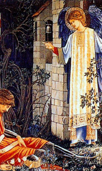"""Series """"The Quest for the Holy Grail"""". Sir Lancelot at the Chapel of the Holy Grail (Together with Edward Burne-Jones)"""