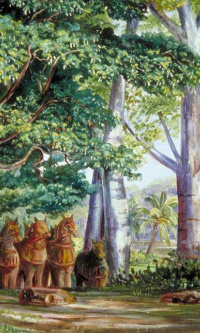 African baobabs, tamarind, god Ayjanar and his two wives