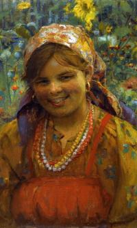 Улыбающаяся девушка. 1910