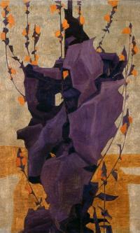 Стилизованные цветы на декоративном фоне