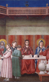 Marriage in Cana. Scenes from the life of Christ