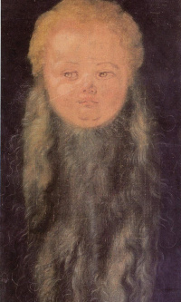 Head of a bearded baby