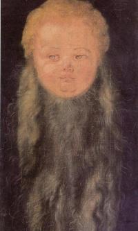 Head of a bearded baby