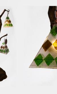 Дизайнерский светильник стеклянное деревце