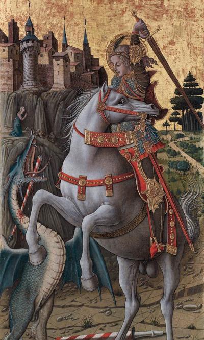 Святой Георгий, убивающий дракона