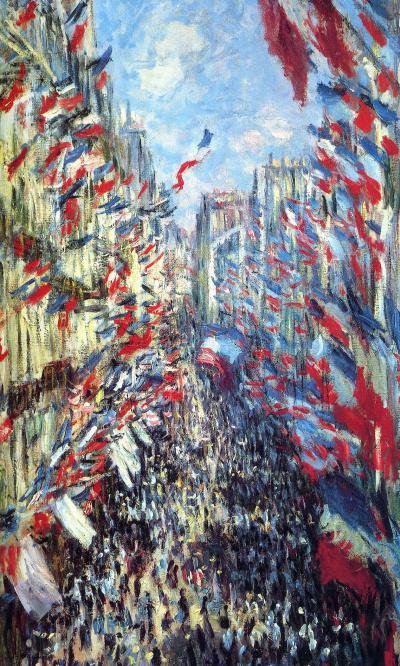 The Rue Montorgueil in Paris, festival of 30 June 1878