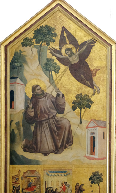 """Panel """"Saint Francis of Assisi, received stigmata"""" with the limits"""