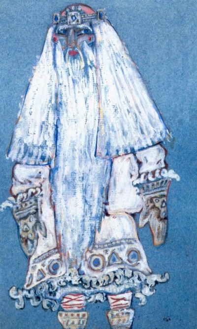 "Frost. Costume design (Santa Claus) to ""the snow maiden"" Opera by N.. Rimsky-Korsakov and the play A. N. Ostrovsky"