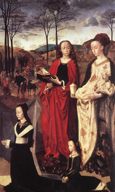 Saints Margaret and Mary Magdalene with Maria Portinari
