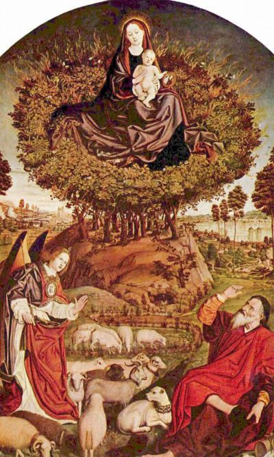 Триптих неопалимой купины, центральная часть