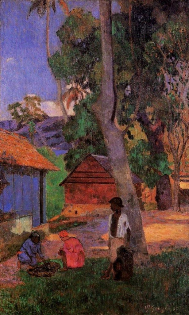 Paul Gauguin. Near the huts