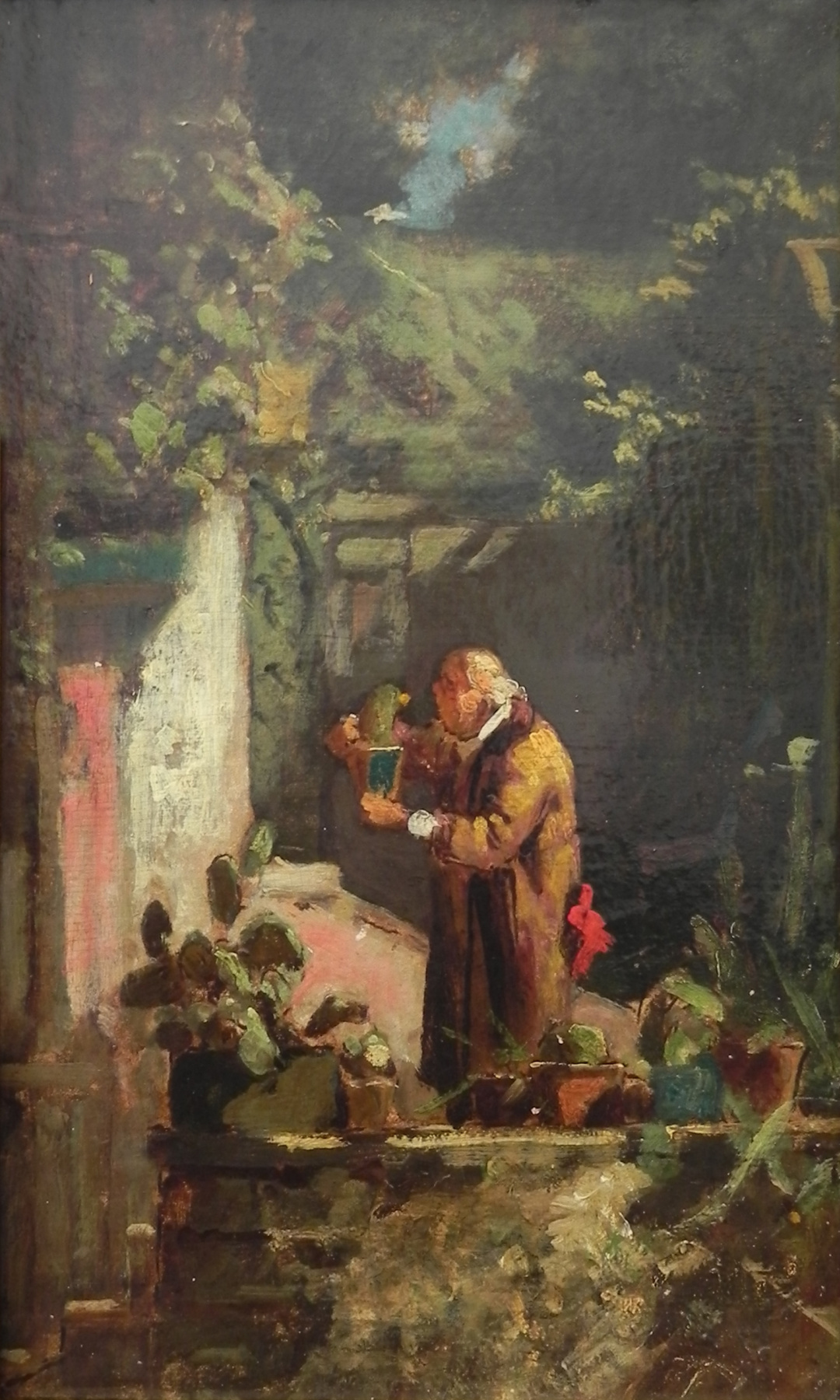 Karl Spitzweg. Mr. pastor is a lover of cacti