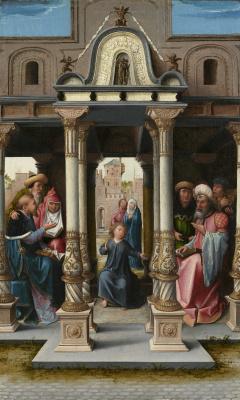 Bernart Van Orley. Christ among the doctors