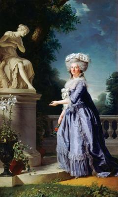 Аделаида Лабий-Гийар. Мария-Тереза-Луиза-Виктория Французская, называемая мадам Виктуар, у статуи Дружелюбия во дворце Бельвё