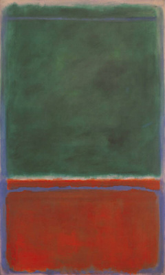 Rothko Mark. Green and maroon