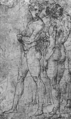 Raphael Sanzio. Three naked young men