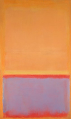 Rothko Mark. Untitled (Orange, blue red)