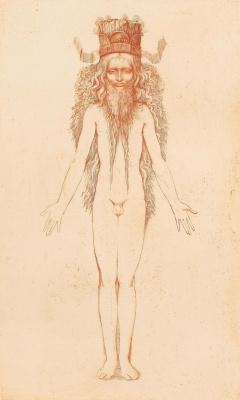 Ernst Fuchs. Nude