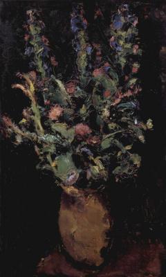 Антон Файстауер. Цветочный натюрморт с живокостью