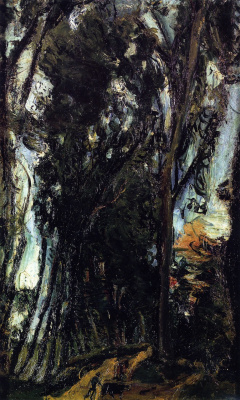 Haim Solomonovich Soutine. Avenue of trees at Chartres
