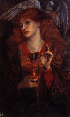 Edward Coley Burne-Jones. The Virgin Of The Holy Grail