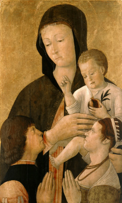Gentile Bellini. Madonna with Child and Two Praying