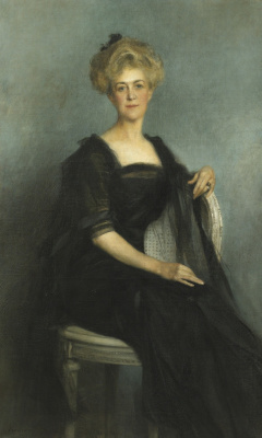 Francois Flameng. Portrait of Mrs. Vanderbilt.  One thousand nine hundred nine