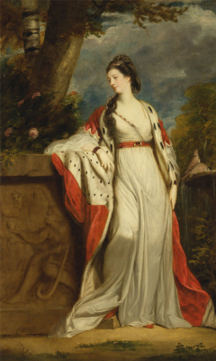 Joshua Reynolds. Portrait of Elizabeth Gunning, Duchess of Hamilton and Argyll