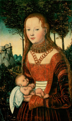 Lucas Cranach the Elder. Young mother with child