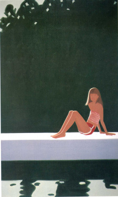 Alex Katz. Tracy on the dam