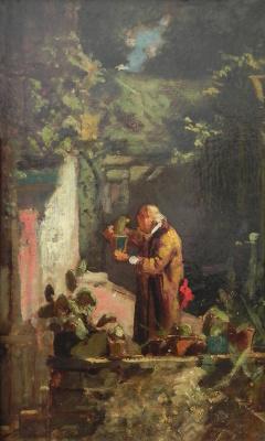 Karl Spitzweg. Mr. pastor is a lover of cacti