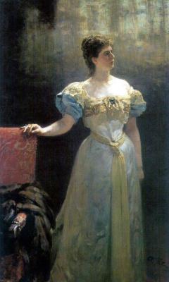 Ilya Efimovich Repin. Portrait of Princess M. K. Tenisheva.