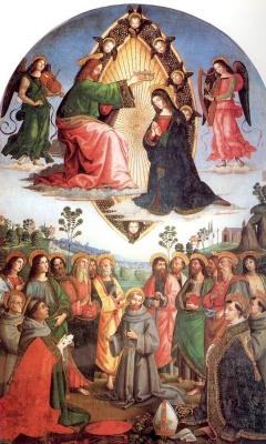 Пинтуриккио. Владычица с Христом