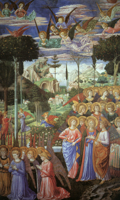 Benozzo Gozzoli. The adoration of the angels