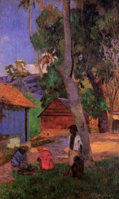 Paul Gauguin. Near the huts