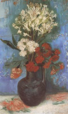 Винсент Ван Гог. Ваза с гвоздиками и другими цветами
