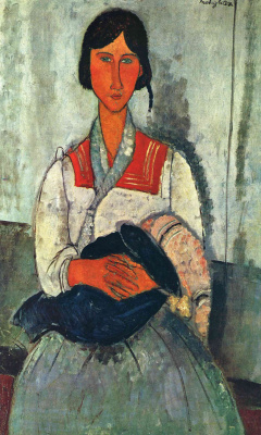 Amedeo Modigliani. Gypsy woman with child